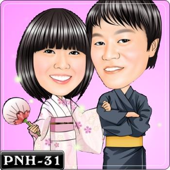 情侶雙人Q版漫畫-PNH-31